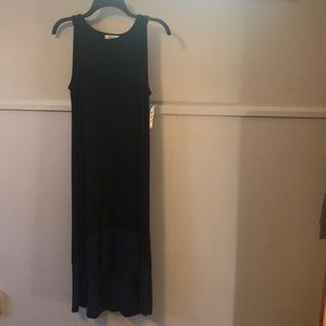 Black dress with blue at bottom